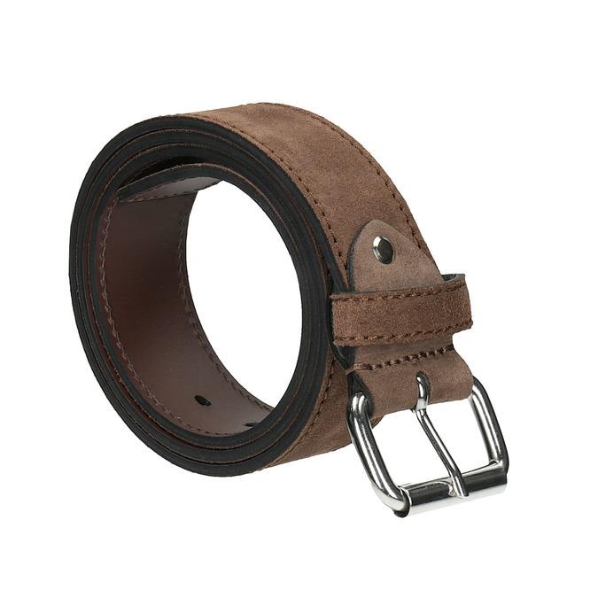 Zamszowy pasek bata, brązowy, 953-3106 - 13