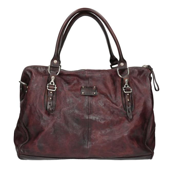 Skórzana torba zmetalowymi detalami a-s-98, czerwony, 966-5020 - 26