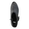 Skórzane botki kowbojki bata, czarny, 696-6610 - 19