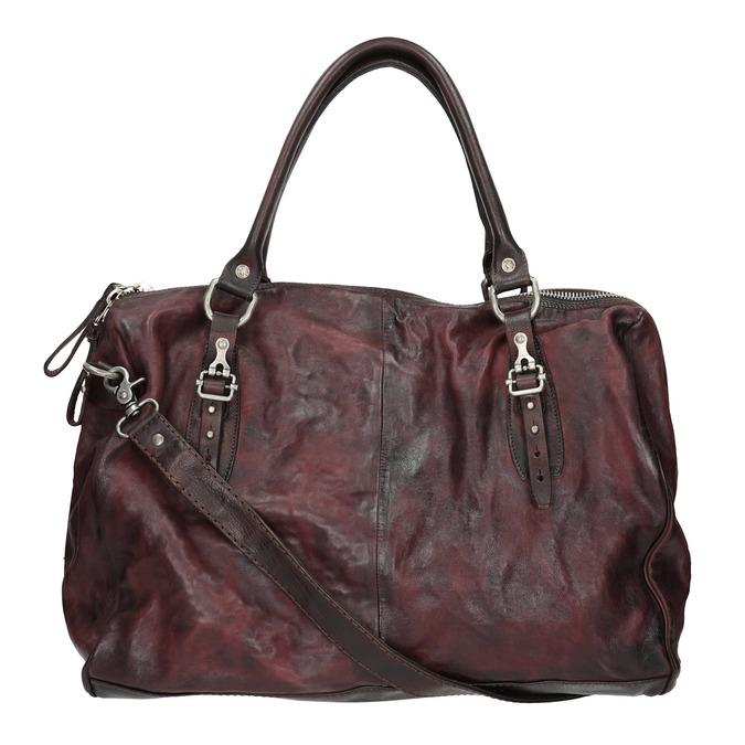 Skórzana torba zmetalowymi detalami a-s-98, czerwony, 966-5020 - 19