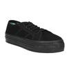 Czarne tenisówki na szerokiej podeszwie bata, czarny, 529-6630 - 13