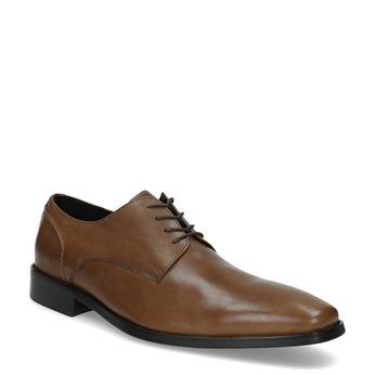 Brązowe skórzane półbuty o kroju Derby bata, brązowy, 826-3646 - 13
