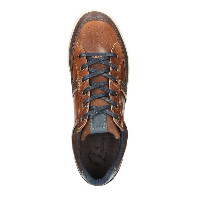 Nieformalne trampki ze skóry bata, brązowy, 844-4622 - 19