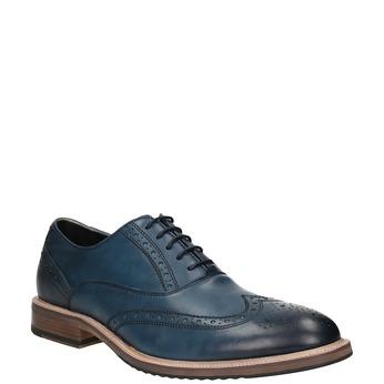 Skórzane Oxfordy ze zdobieniem typu Brogue bata, niebieski, 826-9647 - 13
