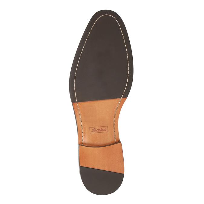 Czarne skórzane półbuty z podeszwą w swobodnym stylu bata, czarny, 824-6679 - 26