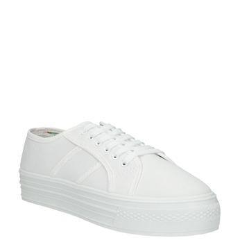 Białe damskie tenisówki bata, biały, 529-1630 - 13