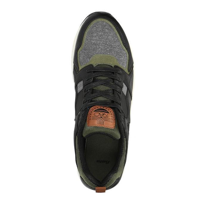 Męskie buty sportowe na solidnej podeszwie bata, czarny, 841-6604 - 19