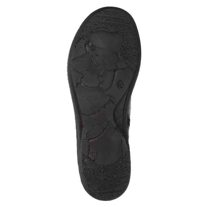 Skórzane ocieplane botki bata, czarny, 596-6624 - 26