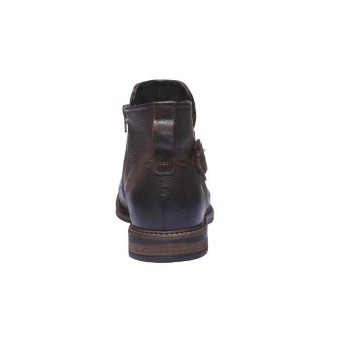 Skórzane buty do kostki bata, brązowy, 894-4107 - 17