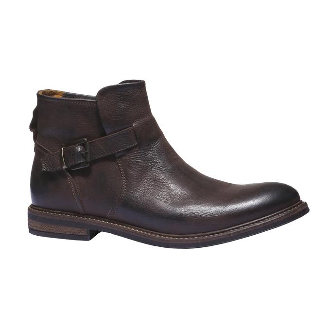 Skórzane buty do kostki bata, brązowy, 894-4107 - 13