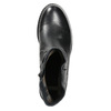 Botki damskie ze skóry bata, czarny, 594-6611 - 26
