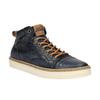 Skórzane trampki męskie za kostkę bata, niebieski, 846-9606 - 13