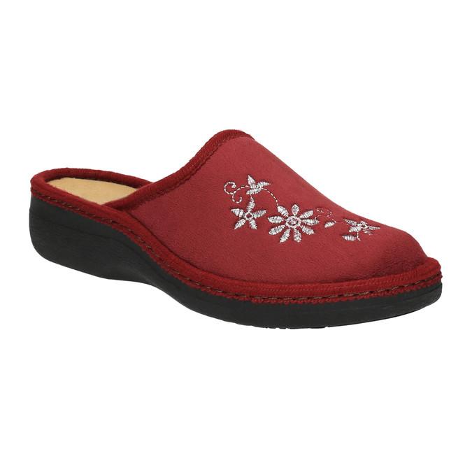 Kapcie damskie bata, czerwony, 579-5348 - 13