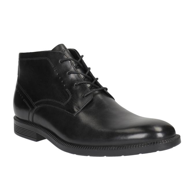 Skórzane buty za kostkę rockport, czarny, 824-6025 - 13