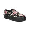 Slip-on damskie zdeseniem wkwiaty bata, czarny, 529-0631 - 13