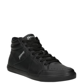 Czarne trampki za kostkę power, czarny, 501-6400 - 13