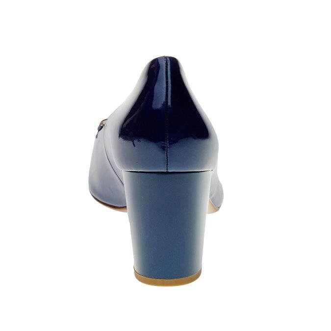 Damskie lakierowane czółenka hogl, fioletowy, 728-9001 - 17