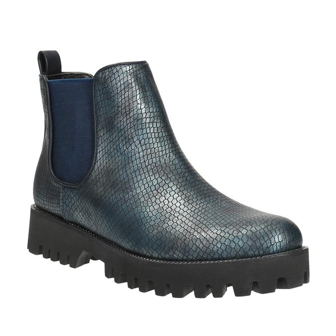 Botki damskie bata, niebieski, 591-9616 - 13