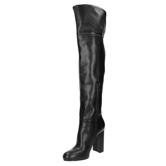 Kozaki za kolano na obcasie bata, czarny, 791-6609 - 26