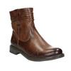 Skórzane botki kowbojki bata, brązowy, 594-4611 - 13