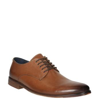 Męskie skórzane półbuty bata, brązowy, 826-3643 - 13