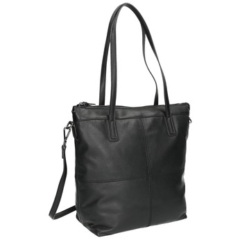 Skórzana torba zodpinanym paskiem bata, czarny, 964-6234 - 13