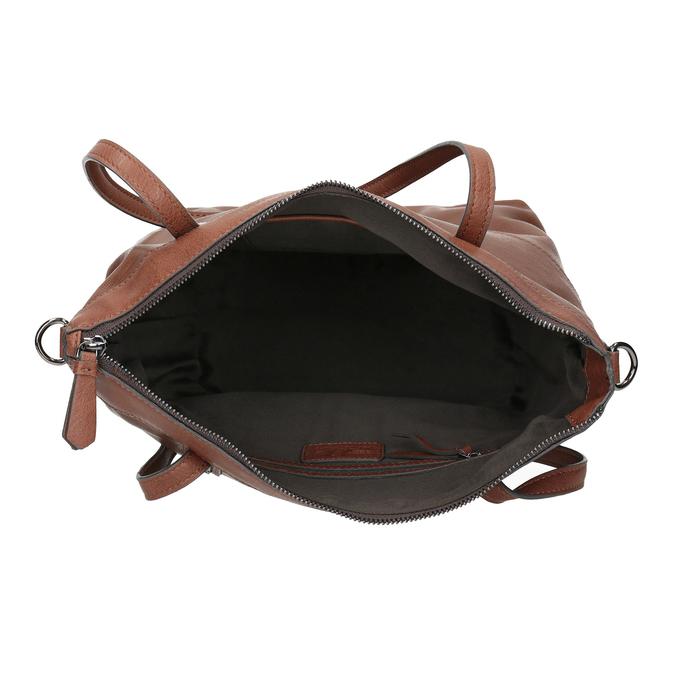 Brązowa skórzana torebka bata, brązowy, 964-3234 - 15