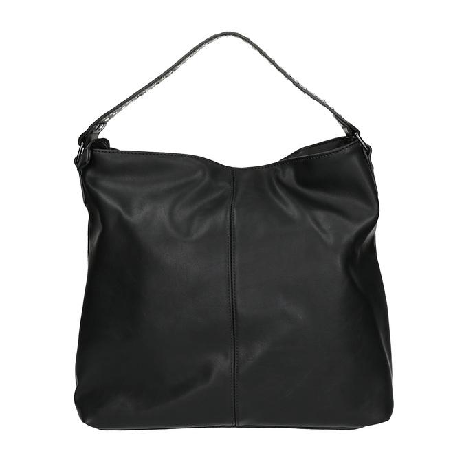 Damska torebka z suwakami bata, czarny, 961-6127 - 19
