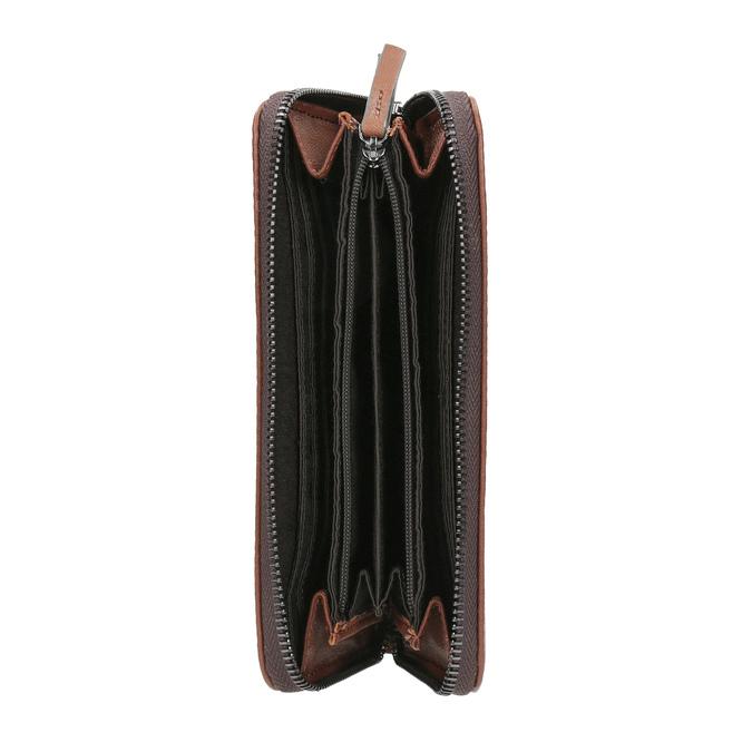 Brązowy skórzany portfel bata, brązowy, 944-3165 - 15