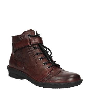 Damskie skórzane buty bata, czerwony, 526-5602 - 13