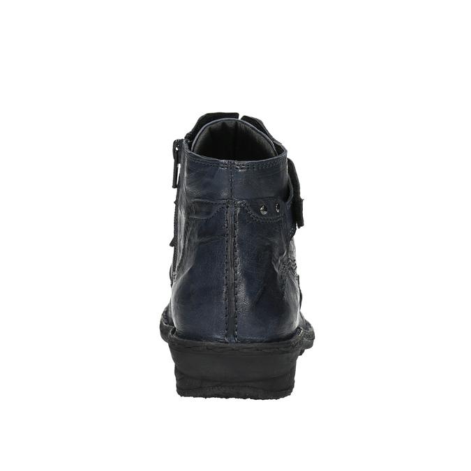 Damskie botki bata, niebieski, 526-9602 - 17