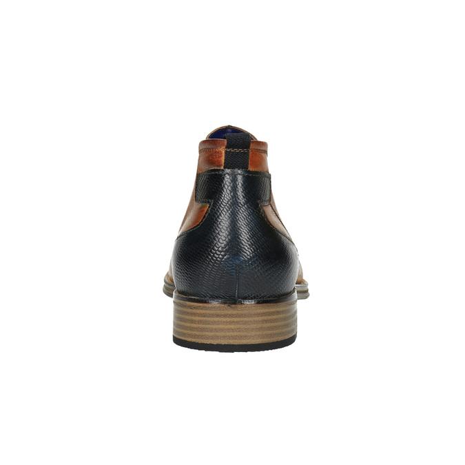 Skórzane ocieplane buty za kostkę bugatti, brązowy, 814-3003 - 17