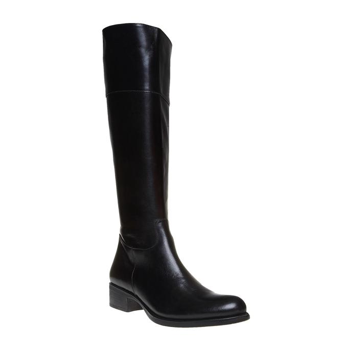 Wysokie skórzane kozaki bata, czarny, 594-6223 - 13