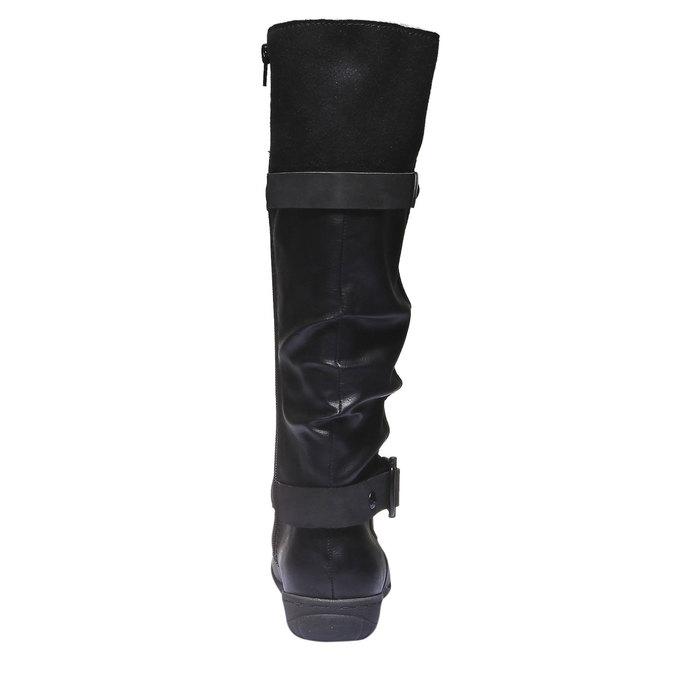 Damskie kozaki bata, czarny, 591-6109 - 17