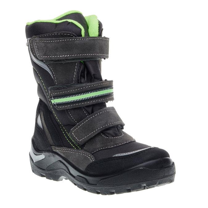 Skórzane buty zimowe mini-b, szary, 499-2110 - 13