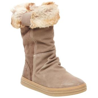 Skórzane botki bata, beżowy, 593-2104 - 13