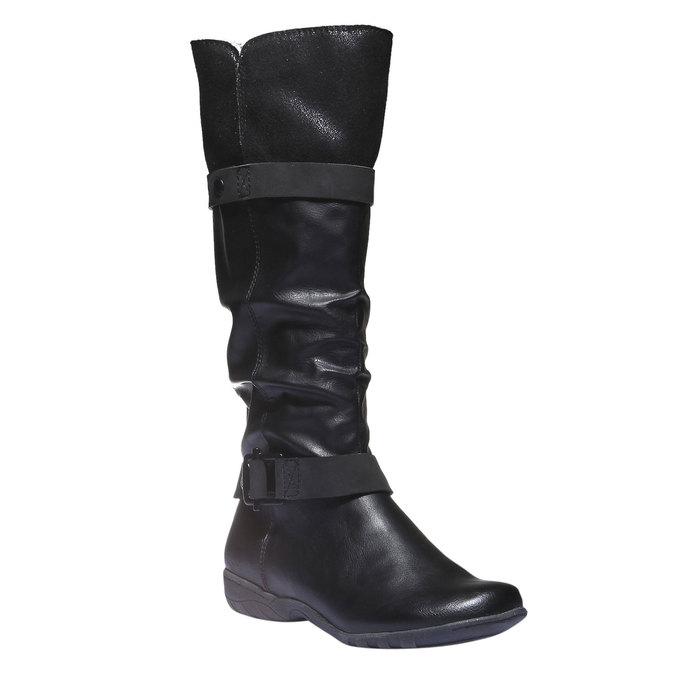 Damskie kozaki bata, czarny, 591-6109 - 13
