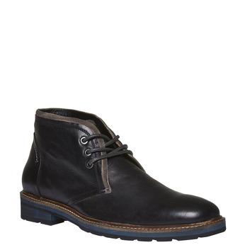 Skórzane buty w stylu Chukka bata, czarny, 894-6126 - 13