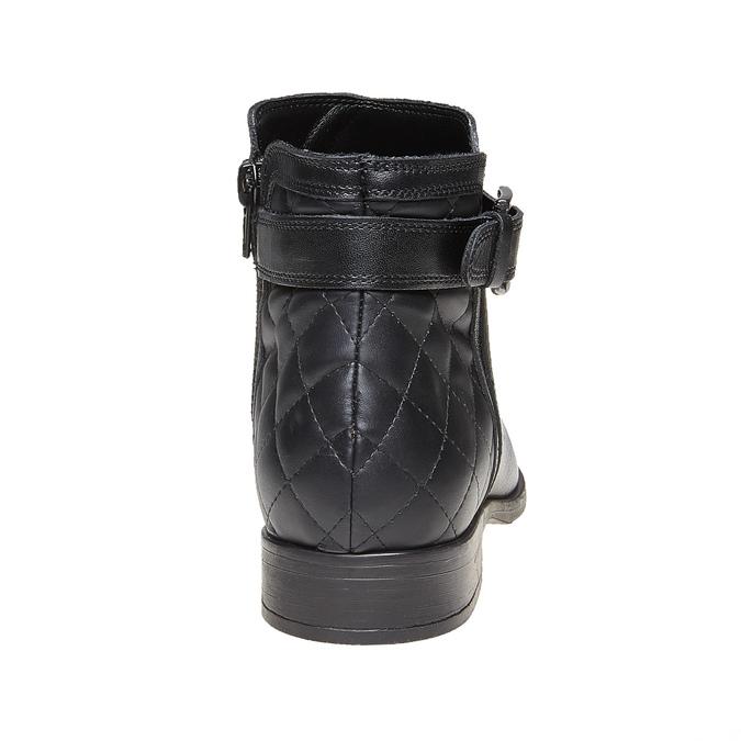 Skórzane botki bata, czarny, 594-6167 - 17