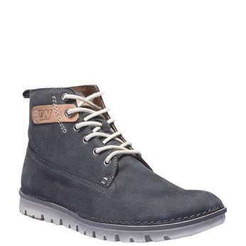 Skórzane sznurowane buty weinbrenner, fioletowy, 896-9340 - 13