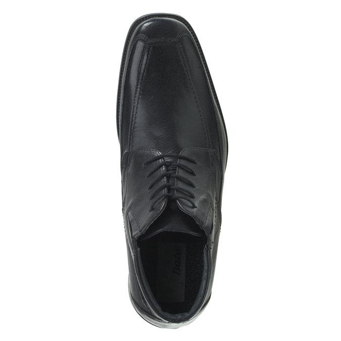 Skórzane półbuty bata, czarny, 894-6429 - 19