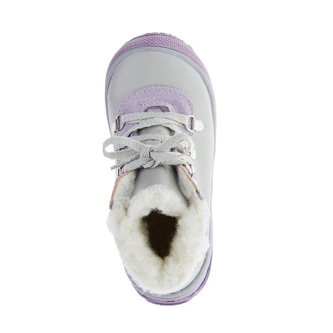 Skórzane zimowe botki mini-b, szary, 124-2105 - 19