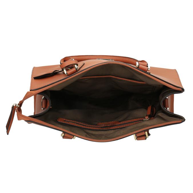 Brązowa torba damska ze sztywnymi uchwytami bata, brązowy, 961-3646 - 15