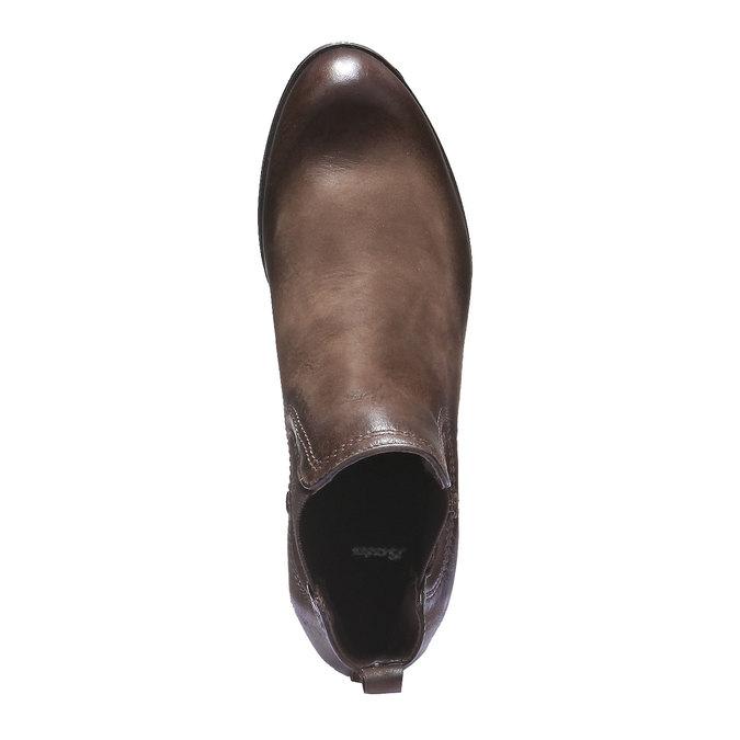 Damskie skórzane buty Chelsea bata, brązowy, 594-4110 - 19