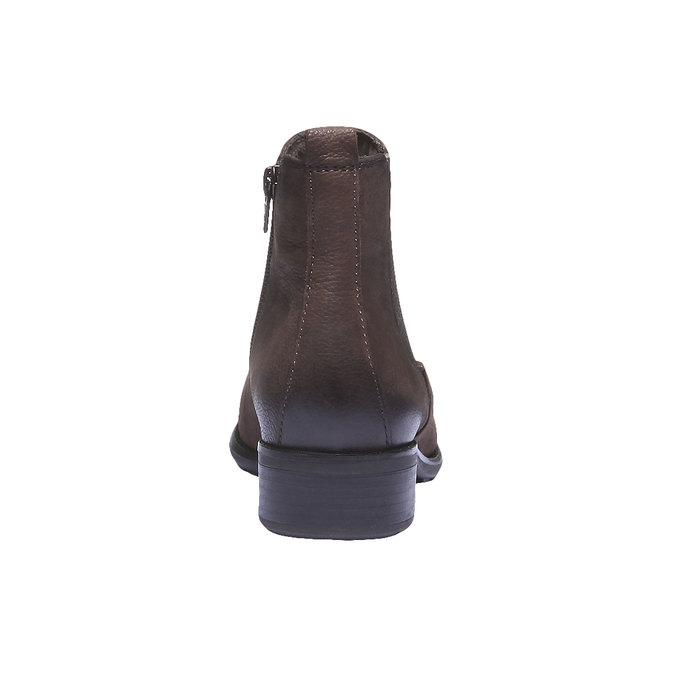Skórzane buty o kroju Chelsea bata, brązowy, 596-4101 - 17