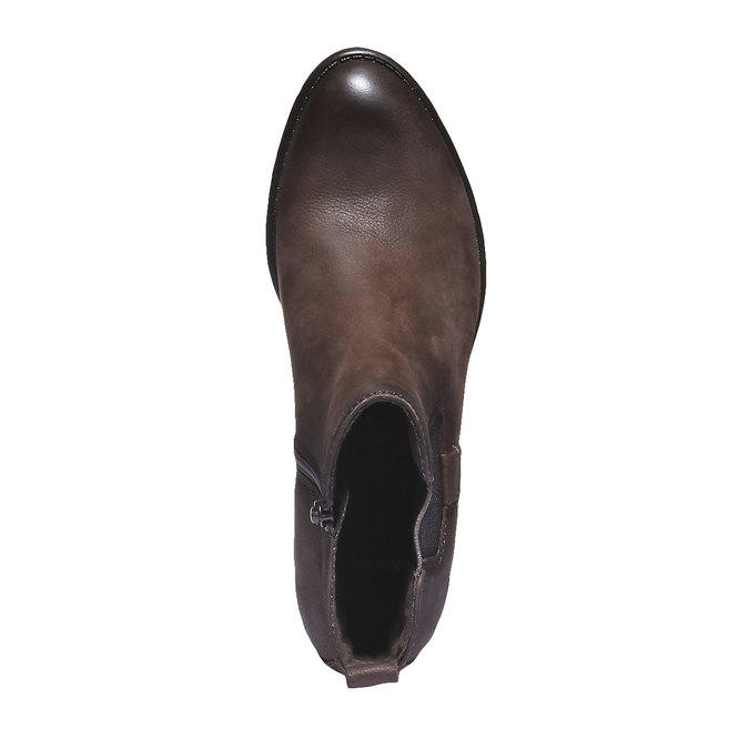 Skórzane buty o kroju Chelsea bata, brązowy, 596-4101 - 19