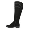 Czarne kozaki damskie za kolana bata, czarny, 599-6602 - 19