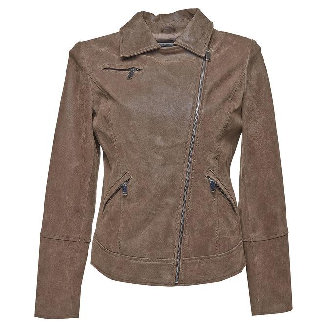 Damska skórzana kurtka bata, brązowy, 973-4107 - 13