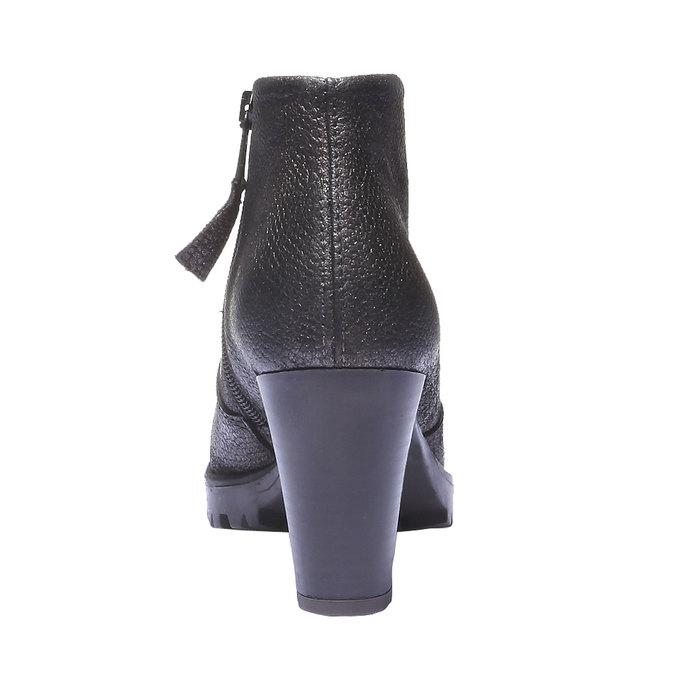 Skórzane buty do kostki bata, szary, 796-2107 - 17
