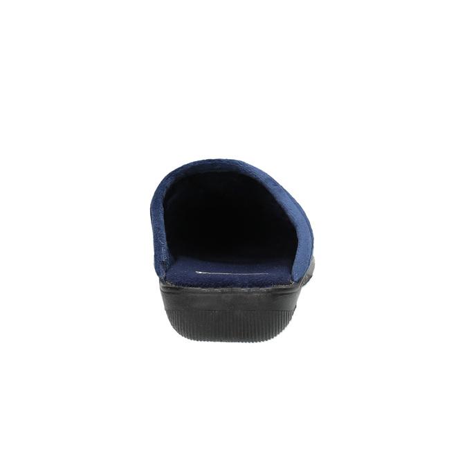 Kapcie damskie zhaftem bata, niebieski, 579-9603 - 17
